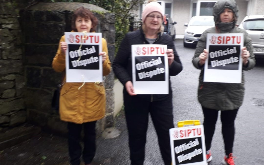 SIPTU members stage a one-day strike today (Friday, 21st February 2020) at Galway Rape Crisis Centre